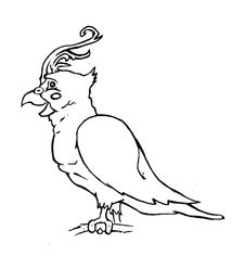 Free Cartoon Cockatiel Stock Photo - 13994860