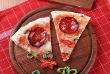 Free Pepperoni Pizza Royalty Free Stock Photos - 13994888