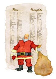 Santa And His List Royalty Free Stock Photos