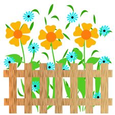 Garden Fence Illustration Royalty Free Stock Photos