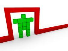 Free Cube Man Stock Photos - 13995533