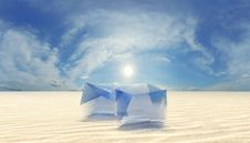 Free Ice In Desert Royalty Free Stock Images - 13996089
