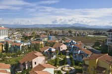Panorama Of City In Turkey Stock Photography