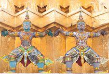 Free Defender Of Pagoda,art Of Thailand Stock Photos - 13996663