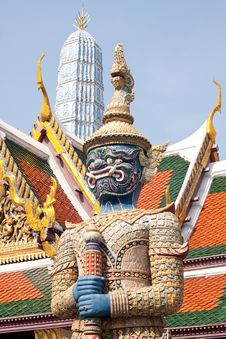 Free Defender Of Temple,art Of Thailand Royalty Free Stock Photo - 13996715