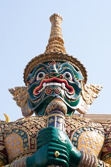 Free Defender Of Temple,art Of Thailand Royalty Free Stock Images - 13996849
