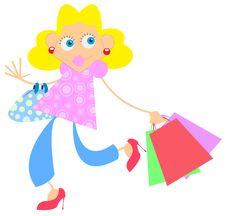 Free Shopping Girl Royalty Free Stock Photos - 13997418