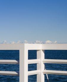 Free White Jetty Balustrade Made Of Wood Stock Image - 13997681