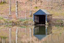 Boathouse On The Lake Stock Photo
