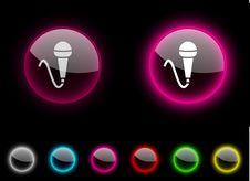 Free Mic Button. Stock Image - 13998461