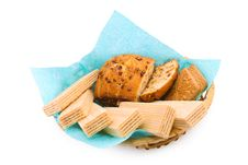 Free Wafers, A Fruitcake And Cookies Royalty Free Stock Image - 13999016