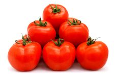 Free Tomatoes Group Royalty Free Stock Images - 13999029
