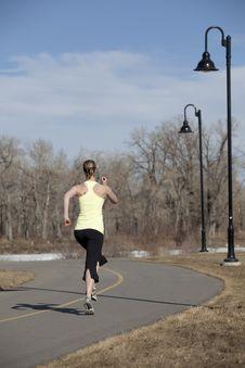 Free Woman Jogging On City Path Stock Image - 13999301