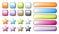 Free Vector Buttons Set Royalty Free Stock Image - 13999666