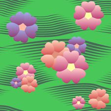 Free Seamless Pattern With Flowers Stock Photo - 13999780