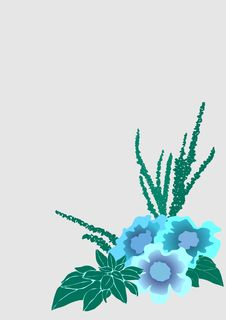 Free Bouquet With Three Flowers Royalty Free Stock Photos - 13999788