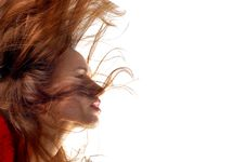 Free Woman With Hair In Motion Royalty Free Stock Photos - 13999828