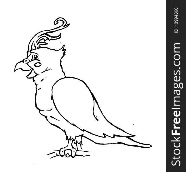 Cartoon Cockatiel