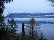 Fog On Lake Stock Image