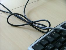 Free Keyboard With A Cable Royalty Free Stock Photo - 141585