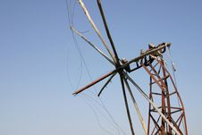 Free Crete / Rusty Windmill Royalty Free Stock Images - 142029