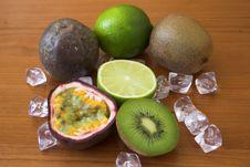Free Kiwis, Limes & Passion Fruits Stock Image - 144661