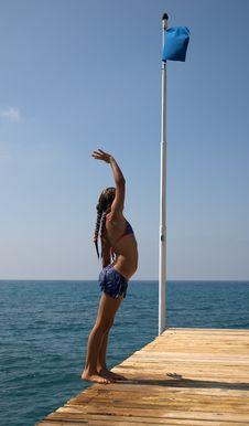 Free Girl At The Sea. Royalty Free Stock Image - 146926