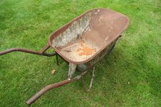 Rusty Wheelbarrow Stock Photo