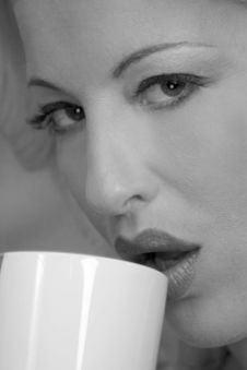 Free Coffee Drinker Royalty Free Stock Photos - 148418