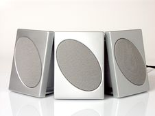 Three Speakers Royalty Free Stock Photography