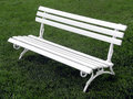 Free White Bench Royalty Free Stock Photography - 1402477
