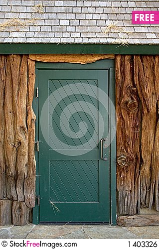 Boathouse door Stock Photo