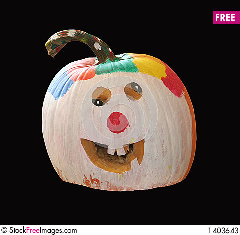 Pumpkin clown free stock photos images 1403643 for Clown pumpkin painting