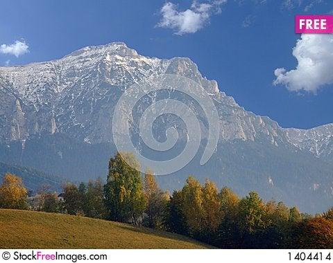 Mountain landscape in autumn Stock Photo
