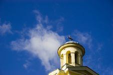 Free Church Tower On Blue Sky Stock Photos - 1401923