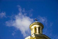 Free Church Tower On Blue Sky Stock Photos - 1401923
