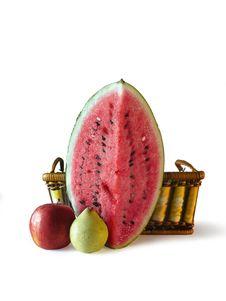 Free Three Fruits Stock Image - 1402481