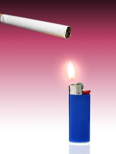 Free Blue Lighter Royalty Free Stock Image - 1402496