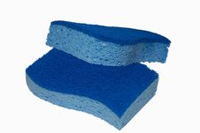 Free Two-tone Blue Sponges Stock Image - 1403061