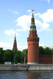 Tower Of The Kremlin. Moscow. Royalty Free Stock Images