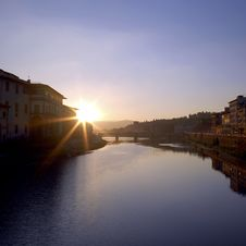 Free Florence - Arno Sunrise Stock Photo - 1405950