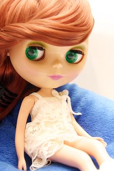 Free Cute And Beautiful Doll In Dress Royalty Free Stock Photography - 1406007