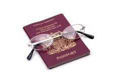 Objects - Passport And Glasses Royalty Free Stock Images