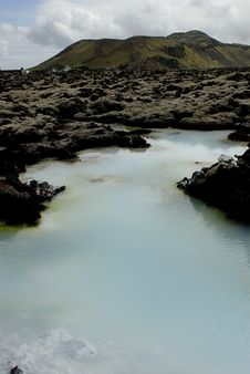 Outside The Blue Lagoon Stock Photography