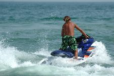 Free Man And Jet-ski Stock Image - 1406891