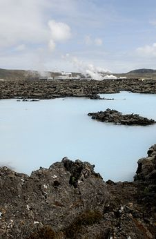 Free Heating Plant Outside The Blue Lagoon Stock Photos - 1407133