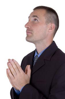 Free Business Praying Stock Image - 1407401