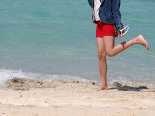 Free Happy Beach Feet Stock Images - 1407844