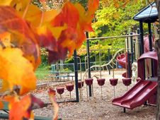 Free Playground In Autumn 5 Stock Image - 1408661