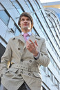 Free The Business Man In A Business Suit Against Centre Stock Images - 14006194